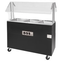 Advance Tabco BSW3-B-SB Enclosed Base Everyday Buffet Stainless Steel Three Pan Electric Hot Food Table - Sealed Well, 120V