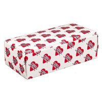 7 1/8 inch x 3 3/8 inch x 1 7/8 inch 1-Piece 1 lb. Heart Candy Box - 250 / Case