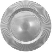 The Jay Companies 13 inch Round Sunray Silver Glass Charger Plate