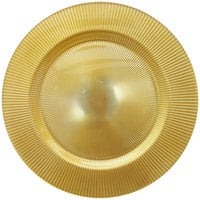The Jay Companies 13 inch Round Sunray Gold Glass Charger Plate