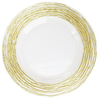 The Jay Companies 13 inch Round Arizona Gold/Clear Glass Charger Plate