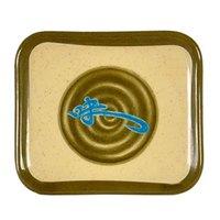 Wei 4 3/4 inch x 4 1/4 inch Rectangular Melamine Plate - 12/Pack
