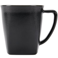 Hall China 44780AFCA Foundry 12 oz. Black Ceramic Mug - 24 / Case