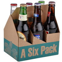 6 Pack Cardboard Beer Bottle Carrier - 75 / Case
