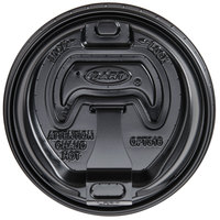 Dart Solo OPT316B Black Optima Lid with Reclosable Tab - 100/Pack