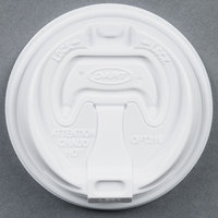 Dart Solo OPT316 White Optima Lid with Reclosable Tab - 100/Pack