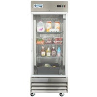 Avantco CFD-1RR-G 29 inch One Section Glass Door Reach-In Refrigerator with LED Lighting - 23 Cu. Ft.