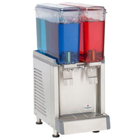 Crathco Mini CS-2E-16 Double 2.4 Gallon Bowl Premix Cold Beverage Dispenser with Agitation Function