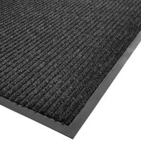 Cactus Mat 1485M-L34 3' x 4' Charcoal Needle Rib Carpet Mat - 3/8 inch Thick