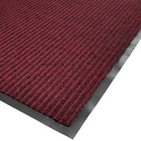 Cactus Mat 1485M-R23 2' x 3' Red Needle Rib Carpet Mat - 3/8 inch Thick