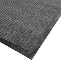 Cactus Mat 1485M-E34 3' x 4' Gray Needle Rib Carpet Mat - 3/8 inch Thick