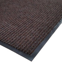Cactus Mat 1485R-B4 4' x 60' Brown Needle Rib Carpet Mat Roll - 3/8 inch Thick