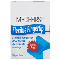 Blue Woven Adhesive Fingertip Bandage - 50 / Box