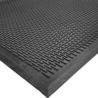 Cactus Mat 1625M-C31 Ridge-Scraper 3' x 10' Heavy-Duty Rubber Safety Mat - 3/8 inch Thick