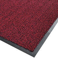 Cactus Mat 1366R-R4 Vinyl-Loop 4' x 60' Red / Black Scraper Floor Roll - 3/8 inch Thick