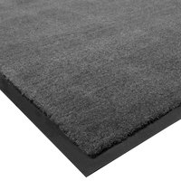 Cactus Mat 1438R-L4 Tuf Plush 4' x 60' Olefin Carpet Entrance Floor Mat Roll - Charcoal