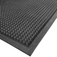 Cactus Mat 2502-2436 24 inch x 36 inch Bubble-Eze Raised Bubble Safety Mat / Anti-Fatigue Mat - Black