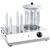 Sirman HOT DOG European-Style Hot Dog Steamer and Bun Warmer (30 Hot Dog / 4 Bun Capacity) - 110V, 600W