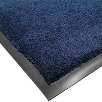 Cactus Mat 1438M-U23 Tuf Plush 2' x 3' Olefin Carpet Entrance Floor Mat - Navy