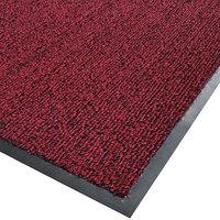 Cactus Mat 1366M-R46 Vinyl-Loop 4' x 6' Red / Black Scraper Mat - 3/8 inch Thick