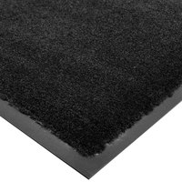 Cactus Mat 1438R-C4 Tuf Plush 4' x 60' Olefin Carpet Entrance Floor Mat Roll - Black