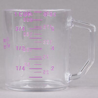 Cambro 25MCCW441 Camwear 1 Cup Purple Allergen Free Measuring Cup