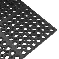 Cactus Mat 2521-C1 VIP Lite 58 1/2 inch x 39 inch Black Rubber Anti-Fatigue Floor Mat - 1/2 inch Thick