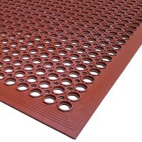 Cactus Mat 2530-R20 VIP TopDek Junior 3' x 19' 6 inch Red Grease-Resistant Anti-Fatigue Floor Mat - 1/2 inch Thick