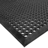 Cactus Mat 2530-C15 VIP TopDek Junior 3' x 14' 8 inch Black Rubber Anti-Fatigue Floor Mat - 1/2 inch Thick