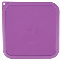Cambro SFC6SCPP441 CamSquare Purple Lid for 6-8 Qt. Food Storage Containers