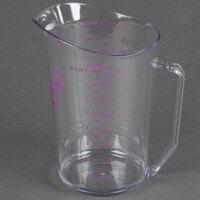 Cambro 200MCCW441 Camwear 2 qt. Allergen Free Purple Measuring Cup