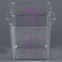Cambro 18SFSCW441 CamSquare 18 qt. Allergen Free Purple Food Storage Container