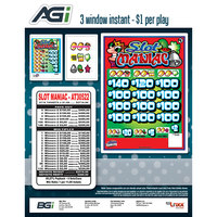 ''Slot Maniac'' 3 Window Pull Tab Tickets - 2716 Tickets Per Deal - Total Payout: $2316