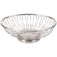 American Metalcraft OBS58 8 1/4 inch x 5 1/8 inch Oval Stainless Steel Basket