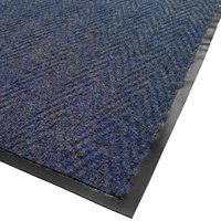 Cactus Mat 1487M-U48 Chevron Rib Herringbone 4' x 8' Blue Scraper Mat - 3/8 inch Thick