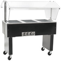 Eagle Group BPDHT3 Three Pan Deluxe Service Mates Portable Hot Food Buffet Table with Open Base