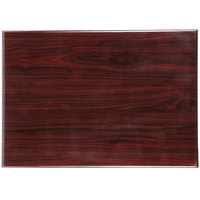 BFM Seating TTRS3048MH Resin 30 inch x 48 inch Rectangular Indoor Tabletop - Mahogany