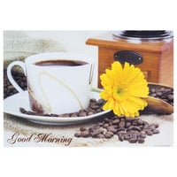 Hoffmaster 702010 10 inch x 14 inch Good Morning Paper Placemat - 1000 / Case
