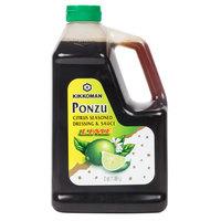 Kikkoman Lime Ponzu Citrus Seasoned Dressing and Sauce .5 Gallon Container - 6/Case