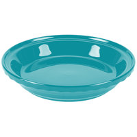 Homer Laughlin 487107 Fiesta Turquoise 10 1/4 inch Deep Dish Pie Baker - 4 / Case