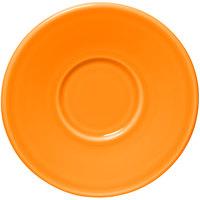 Homer Laughlin 293325 Fiesta Tangerine 6 3/4 inch Jumbo Saucer - 12/Case