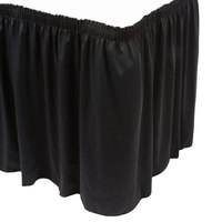 Marko 5024CE29AF014 Trufinish Classic Black 13' Twill Skirting with Shirred Pleat
