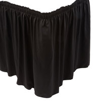 Marko 5024EG29AF014 Trufinish Classic Black 17' 6 inch Twill Skirting with Shirred Pleat