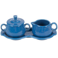 Homer Laughlin 821337 Fiesta Lapis Sugar and Cream Tray Set - 4/Case