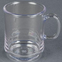 GET TM-1308-CL Diamond Mardi Gras 8 oz. Clear Tritan Stacking Mug - 24/Case