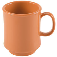GET TM-1308-PK Diamond Harvest 8 oz. Pumpkin Tritan Stacking Mug - 24/Case