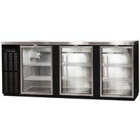 Continental Refrigerator BBC90S-GD 90 inch Black Shallow Depth Glass Door Back Bar Refrigerator