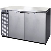 Continental Refrigerator BBC50S-SS 50 inch Stainless Steel Shallow Depth Solid Door Back Bar Refrigerator