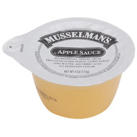 Musselman's Sweetened Apple Sauce 4 oz. Cups - 72/Case