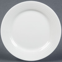 Tuxton FPA-090 Pacifica 9 inch Porcelain White Embossed China Plate - 24 / Case